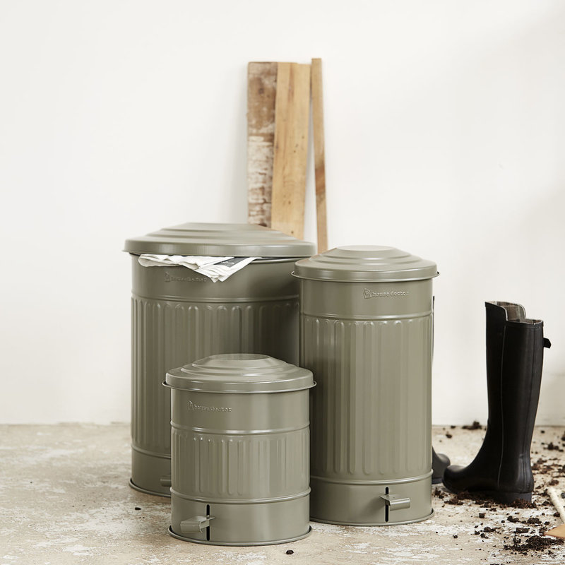 House Doctor Garbage bin, Matte army green, 15 Liters