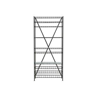 House Doctor Wine rack, Gany, Black, Incl. 3 glass shelves