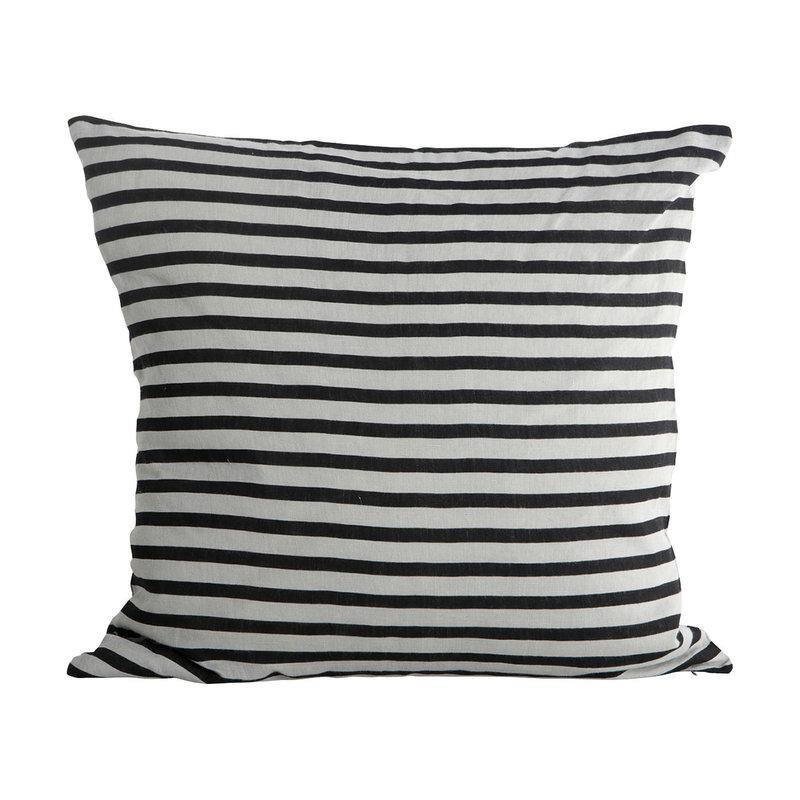 House Doctor Kussenhoes Stripe, zwart / grijs