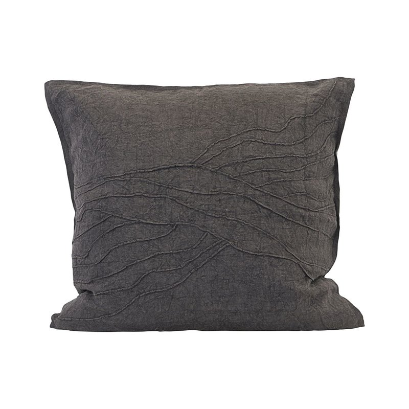 House Doctor Cushion cover, Pleats, Brown