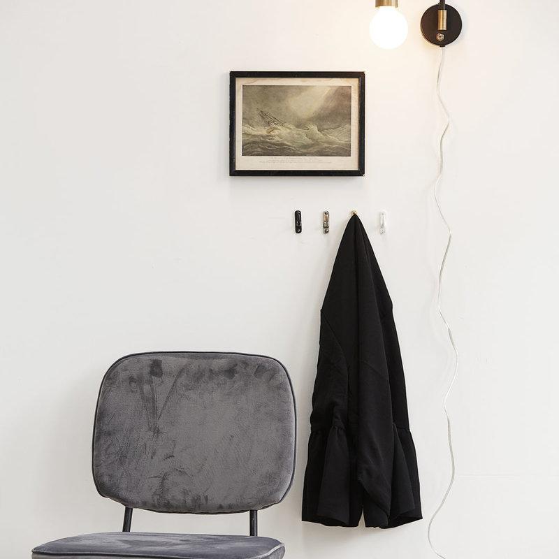 House Doctor Wall lamp, Molecular, Black/Brass, E27, Max 25 W, 2.20 m cab