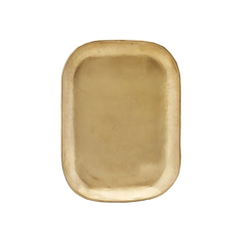 House Doctor Tray, Rich, Brass