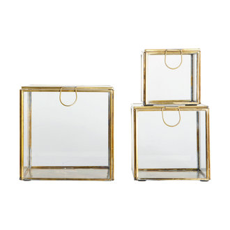 House Doctor Storage boxes, Brass, Brass, Set of 3 sizes