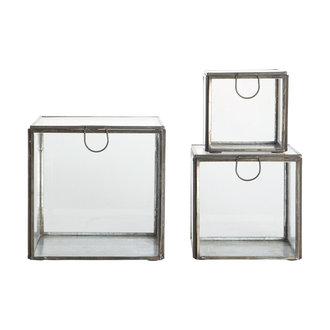 House Doctor Storage boxes, Blackantique, Black, Set of 3 sizes