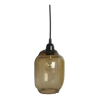 House Doctor Lampshade, Goal, Smoked grey, E27, Handmade glass