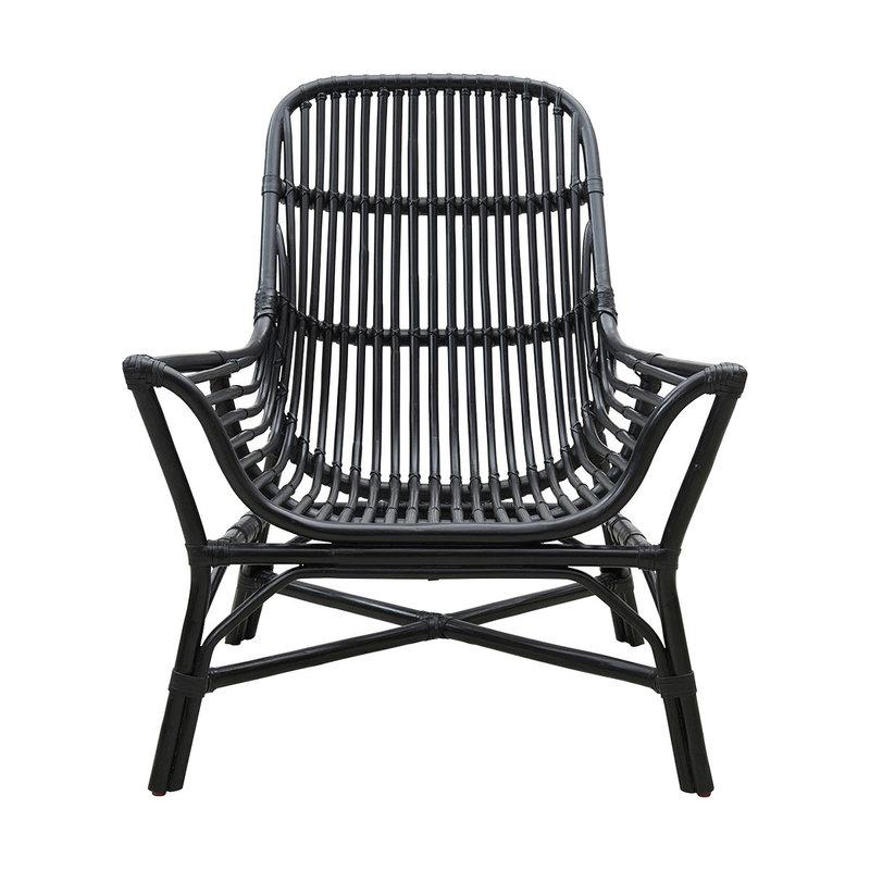 House Doctor Lounge stoel Colony, zwart