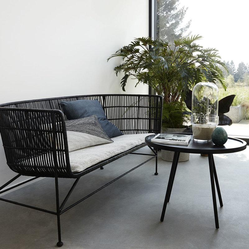House Doctor Sofa, Cuun, Black, Seat height: 36 cm