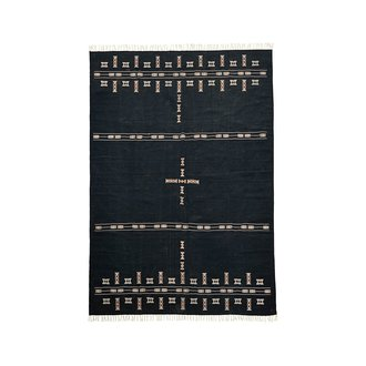 House Doctor Rug, Mila, Black
