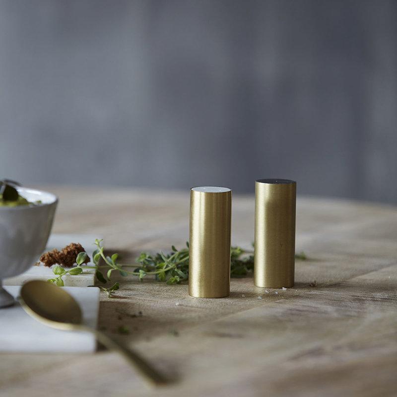 House Doctor Salt and pepper, SP, Brass, Set of 2 pcs