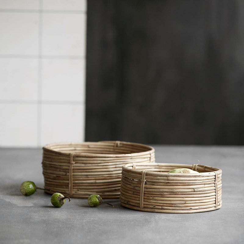 House Doctor Baskets/Storages, Chaka, Nature, Set of 3 sizes