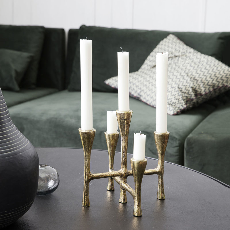 House Doctor Candle stand, Tristy, Brass finish