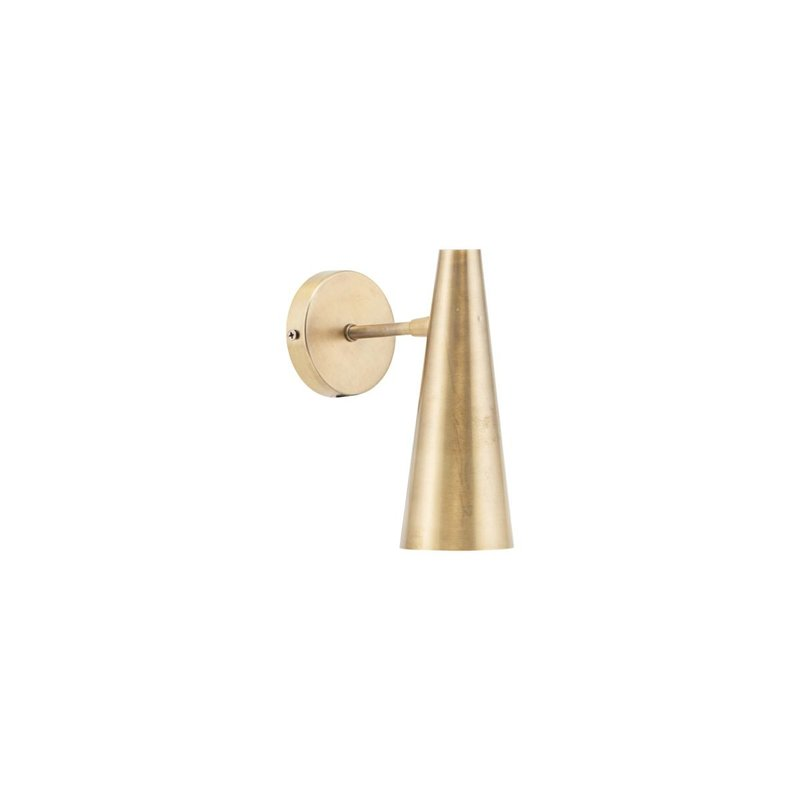 House Doctor Wall lamp, Precise, Brass, E14, Max 6 W (LED), 2.5 m cable