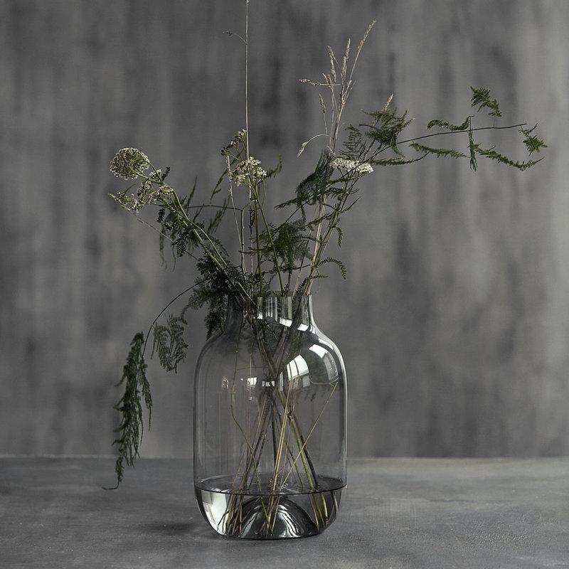 House Doctor Vase, Shaped, Grey