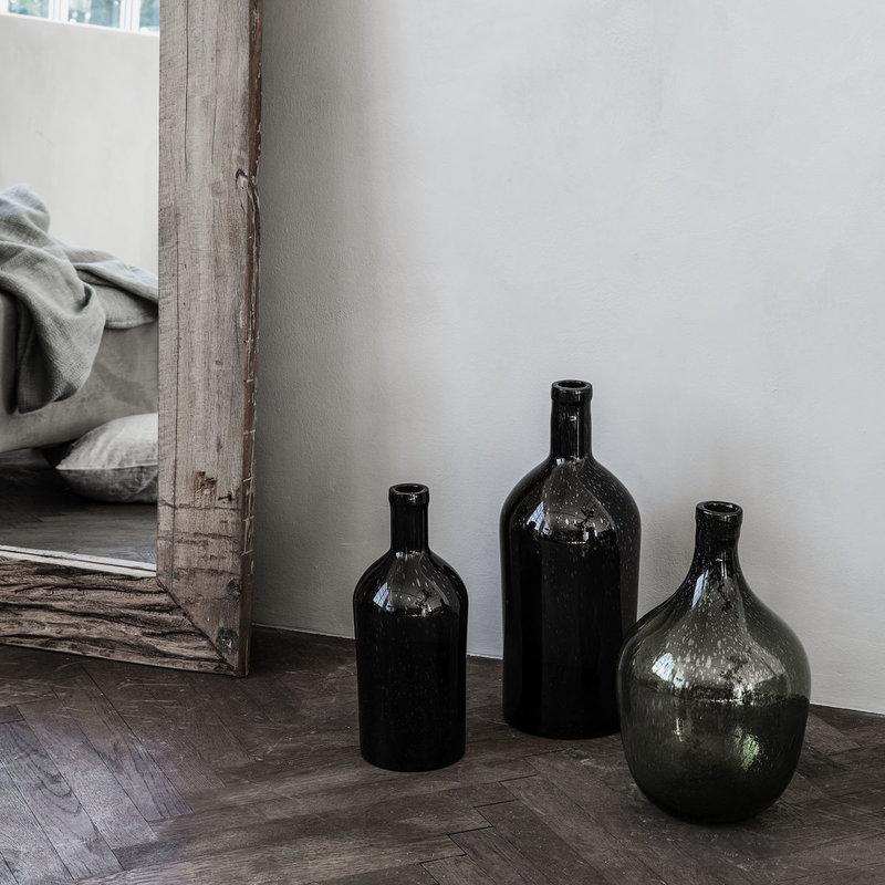 House Doctor Vase, Bottle, Dark brown, Waterproof