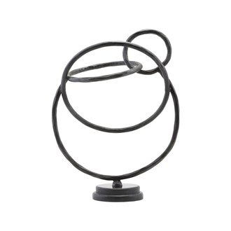 House Doctor Sculpture, Circles, Black