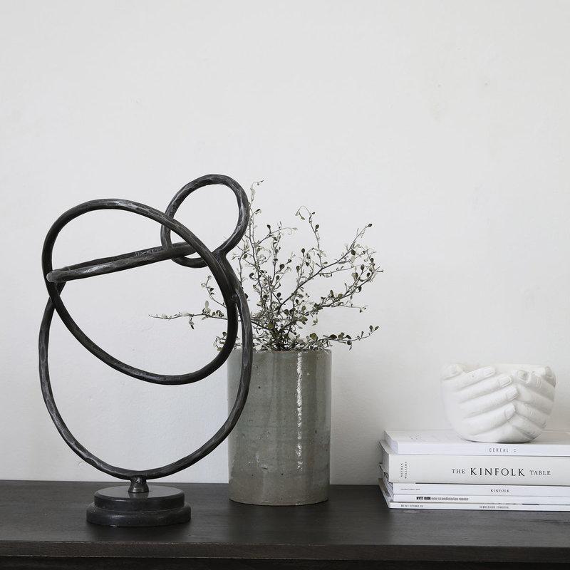 House Doctor Sculptuur, Circles, zwart