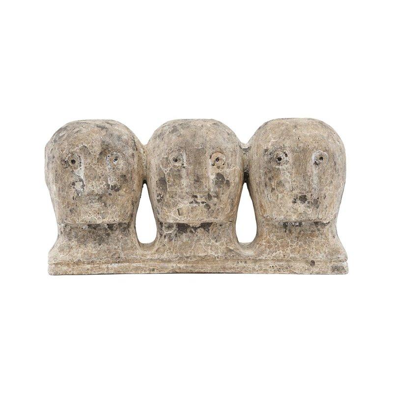 House Doctor Kunstobject, Ancient head, grijs/bruin