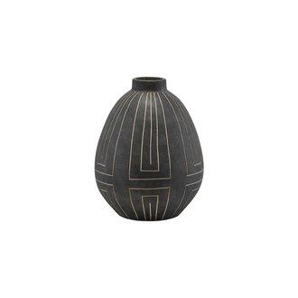 House Doctor Vase, Aljeco, Grey/Black