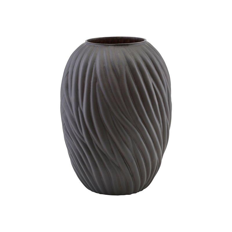 House Doctor Vase, Noa, Dark brown