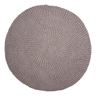 House Doctor Rug, Crochet, Grey, Finish/Colour may vary