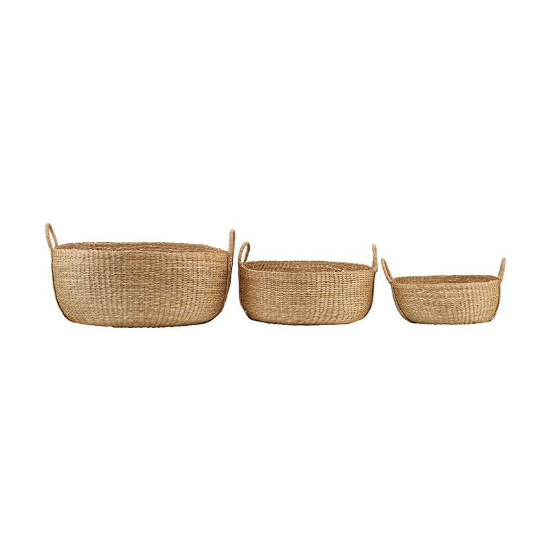 House Doctor Basket, Carry, Nature, Set of 3 sizes