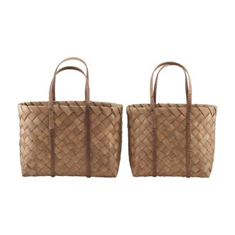 House Doctor Bag, Beach, Brown, Set of 2 sizes