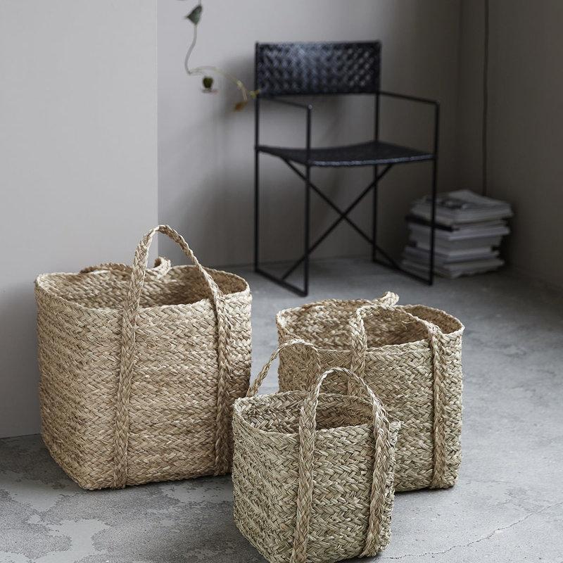 House Doctor Baskets, Sikar, Natural, Set of 3 sizes