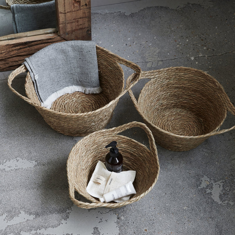 House Doctor Basket, Jat, Natural, Set of 3 sizes