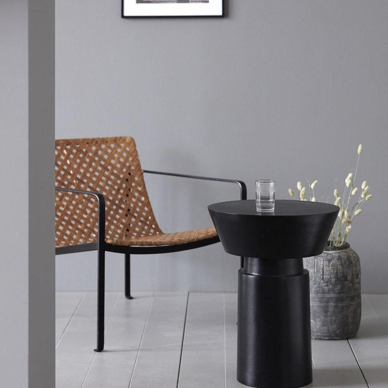 House Doctor Side table, Nanded, Black antique