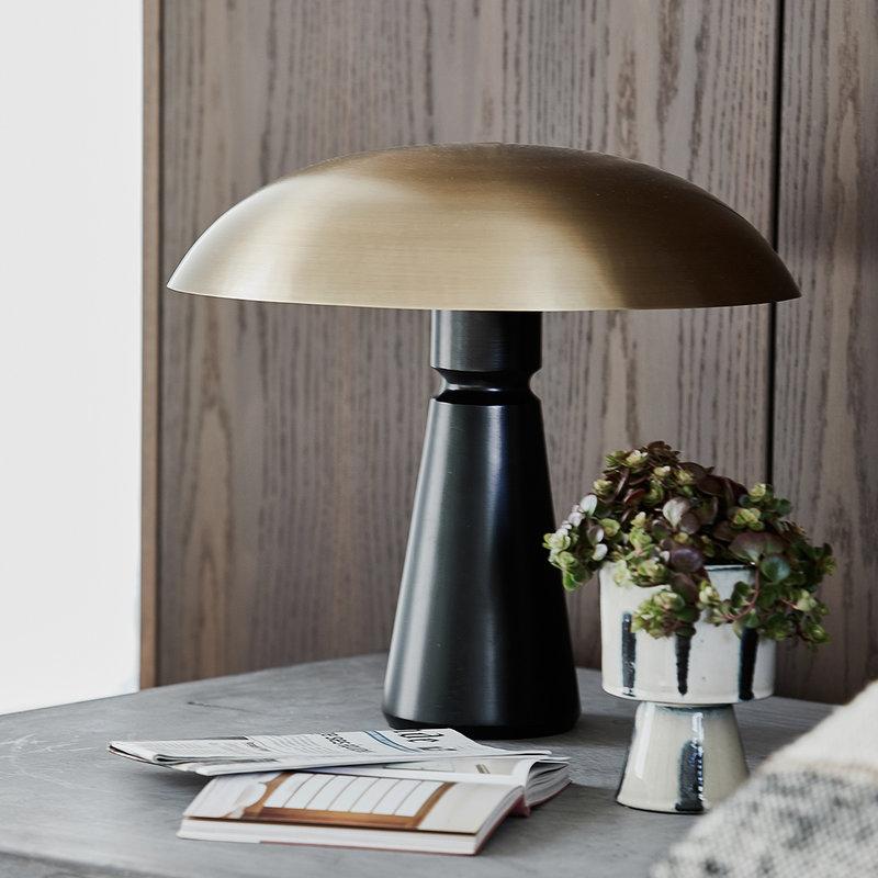 House Doctor Table lamp, Thane, Black/Brass, E27, Max 25 W per socket, 3