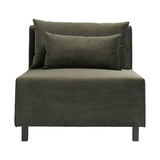 House Doctor Sofa, Middle section, Slow, Green, Seat height: 44 cm, Incl.