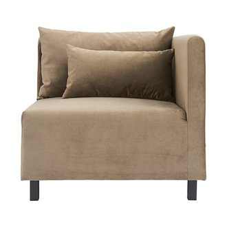 House Doctor Sofa, Corner section, Slow, Sand, Seat height: 44 cm