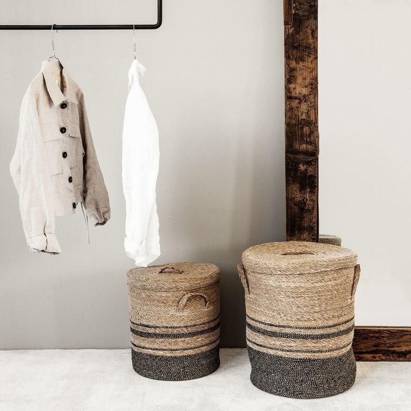 House Doctor Storage w. lid, Laundry, Nature, Set of 2 sizes