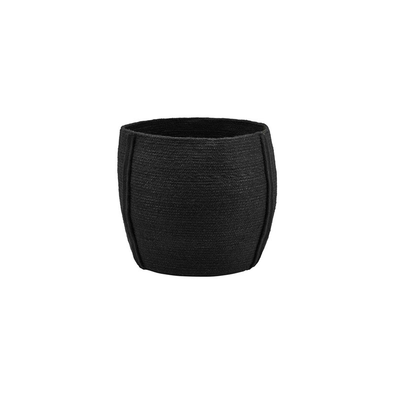 House Doctor Basket, Drum, Black