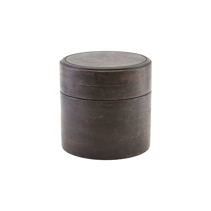 House Doctor Storage w. lid, Kango, Dark brown, Finish/Colour may vary