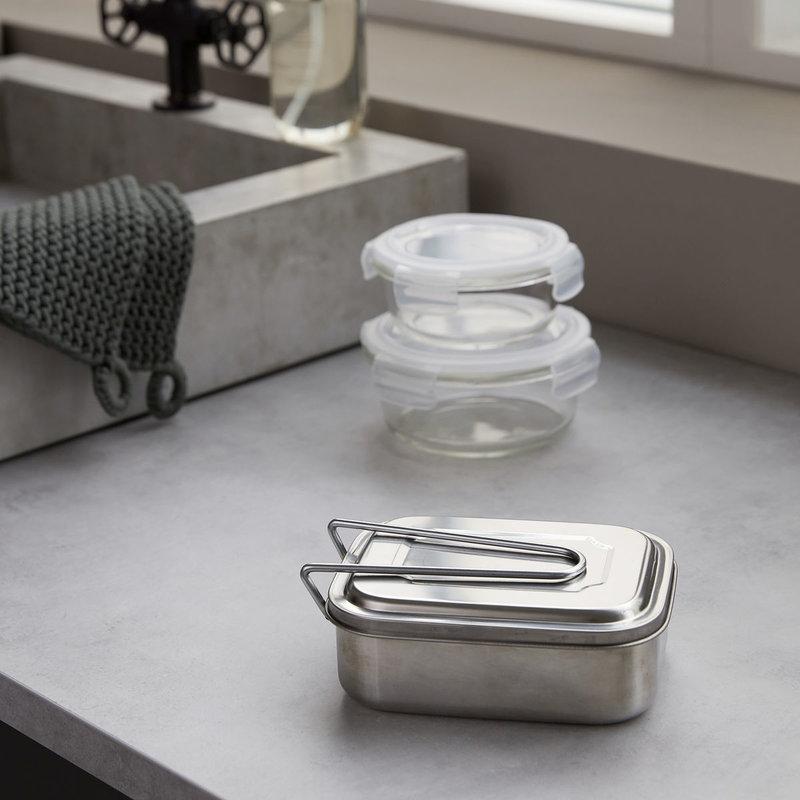 House Doctor Lunchtrommel Boxit, zilveren afwerking
