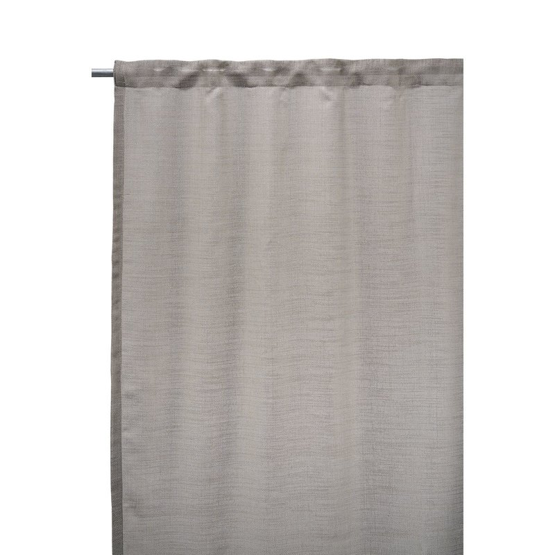 House Doctor Curtains, Plain, Grey/Brown, Set of 2 pcs