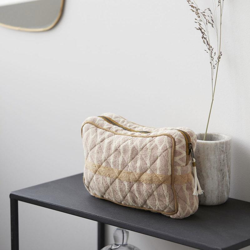 Meraki Makeup bag, Mustard/Terracotta/Sand