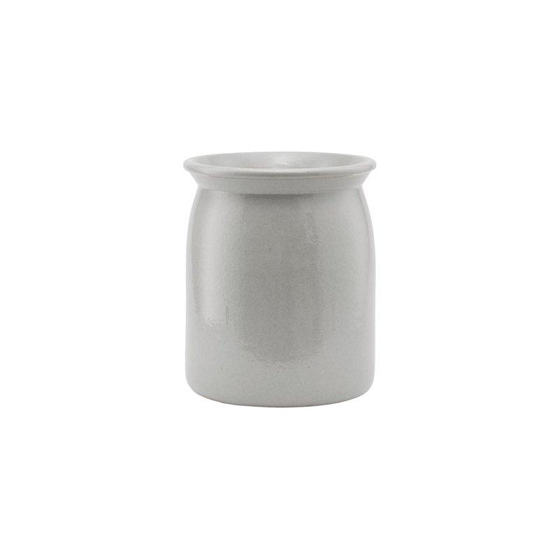 Meraki Ceramic jar, Shellish grey, Medium