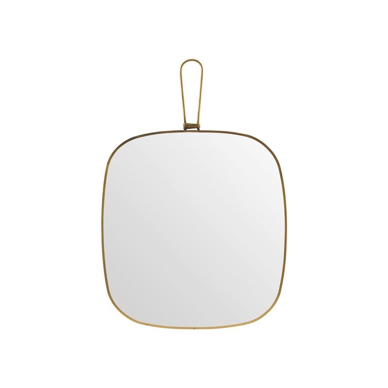 Meraki Mirror w. frame, Antique brass, Normal view