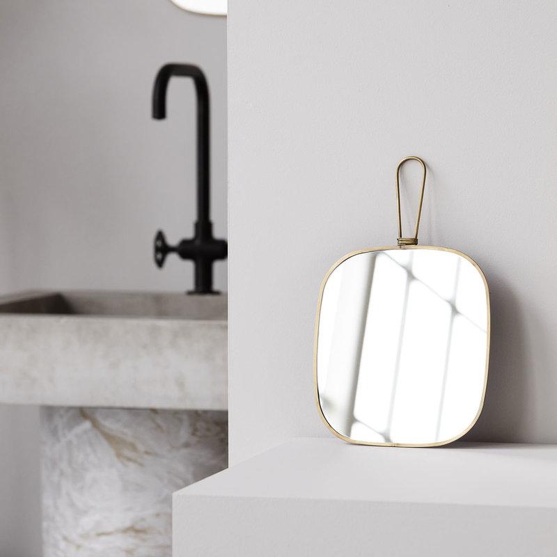 Meraki Mirror w. frame, Antique brass, Normal view