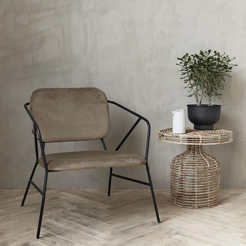 House Doctor Lounge stoel Klever, bruin