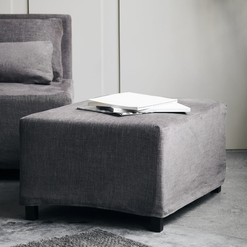 House Doctor Cover to pouf, Hazel Night, Grey/Brown