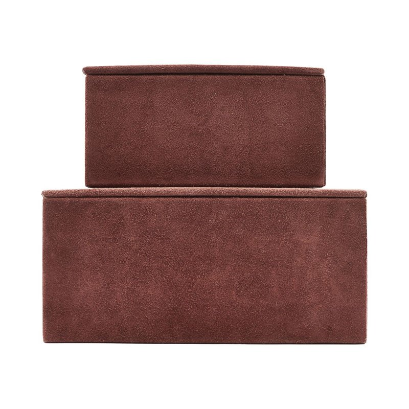 House Doctor Storage, Suede, Burnt henna, Set of 2 sizes