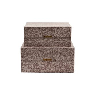 House Doctor Storage, Floral, Grey, Set of 2 sizes