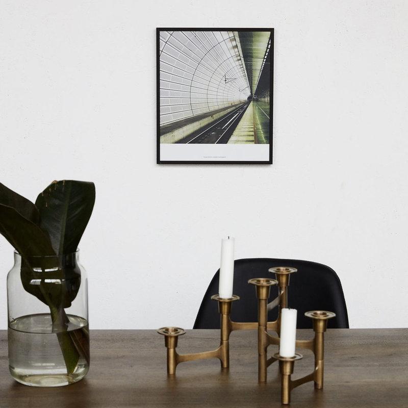 House Doctor Illustration w. frame, Places 02, Black, By Anders Hvenegaar