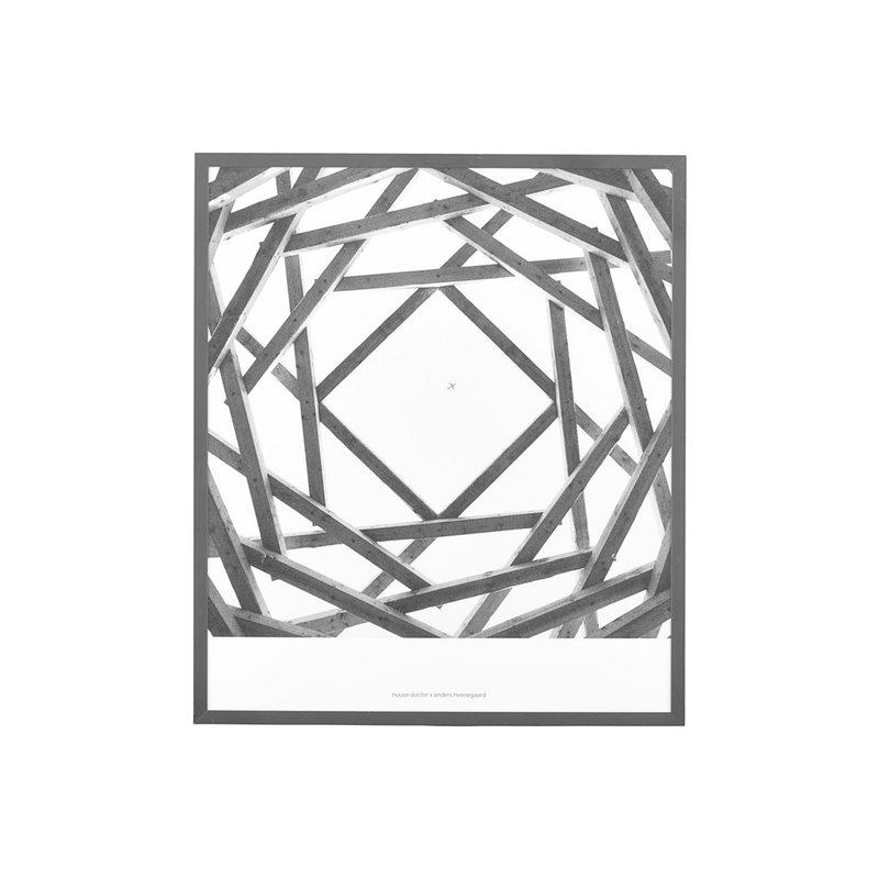 House Doctor Illustration w. frame, Prospections 01, Black, By Anders Hve