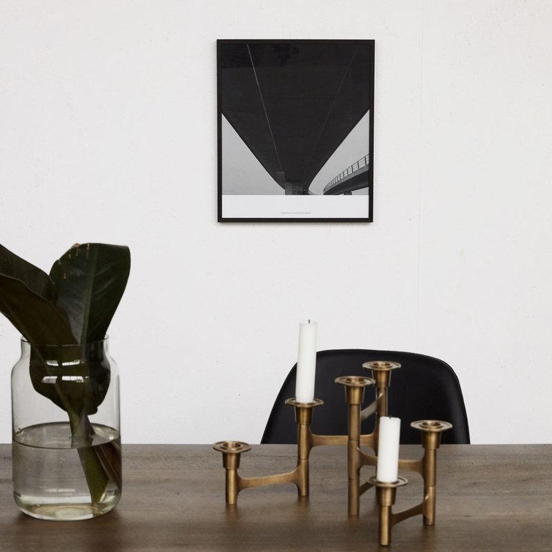 House Doctor Illustration w. frame, Prospections 03, Black, By Anders Hve