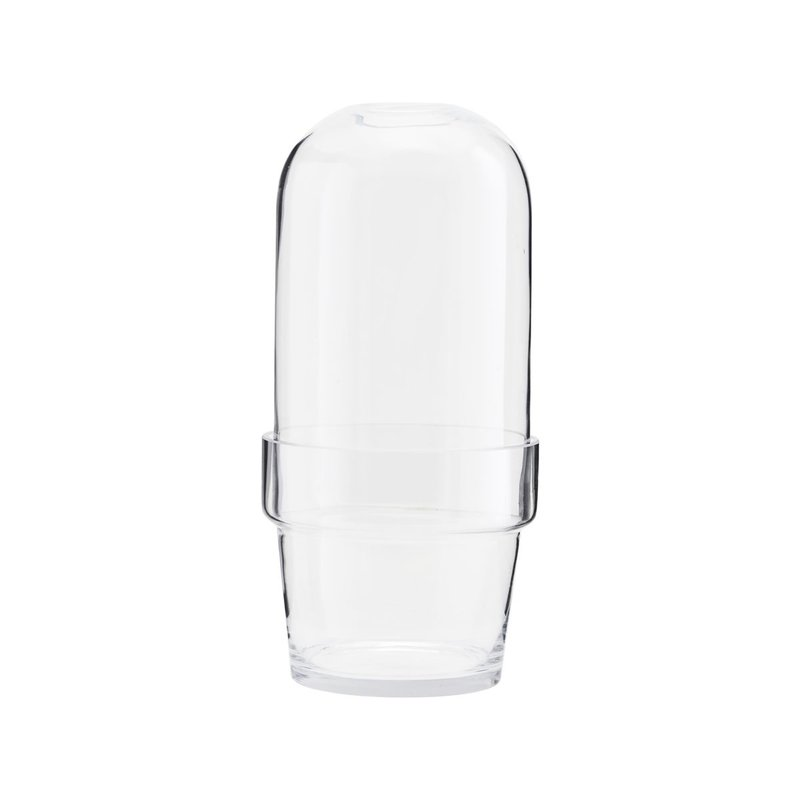 House Doctor Glass bell w. planter, Clear