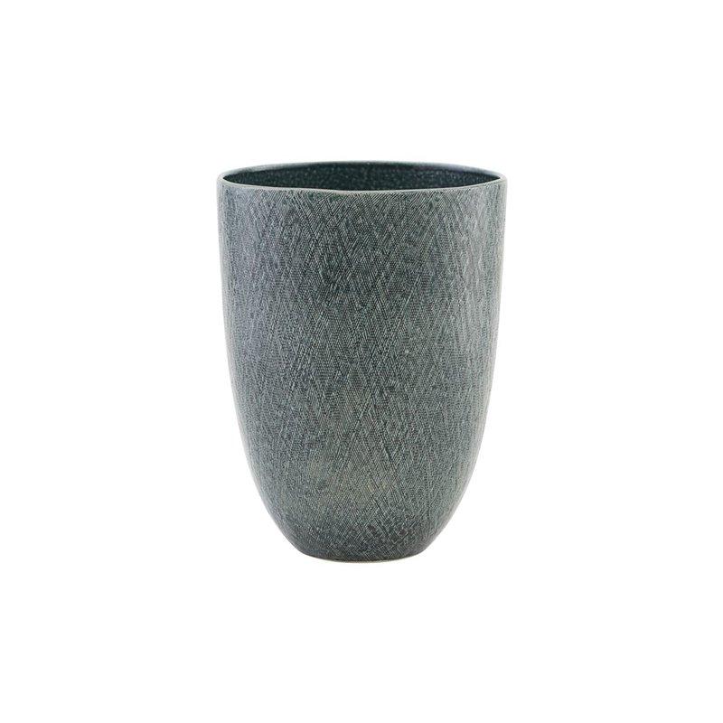 House Doctor Vase/Planter, Anil, Blue/Green